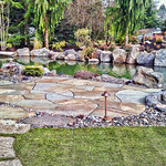 """pond, trout pond, koi pond, stone patio, rock patio, waterfall, water feature, boulders, rock fire pit, fireplace, stone stepping stones <a style=""""margin-left:10px; font-size:0.8em;"""" href=""""http://www.flickr.com/photos/117326093@N05/17737009313/"""" target=""""_blank"""">@flickr</a>"""