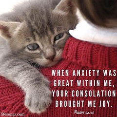 "LifeSongs Uplifting Word: ""When #anxiety was great within me, Your consolation brought me #joy."" - Psalm 94:19"