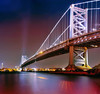 Benjamin Franklin Bridge (mudpig) Tags: longexposure panorama reflection philadelphia skyline night skyscraper river landscape newjersey cityscape cloudy pennsylvania camden nj nopeople pa philly benfranklinbridge benfranklin stitched bfb delawareriver multipleimages 2015 benjaminfranklinbridge franklinbridge mudpig stevenkelley