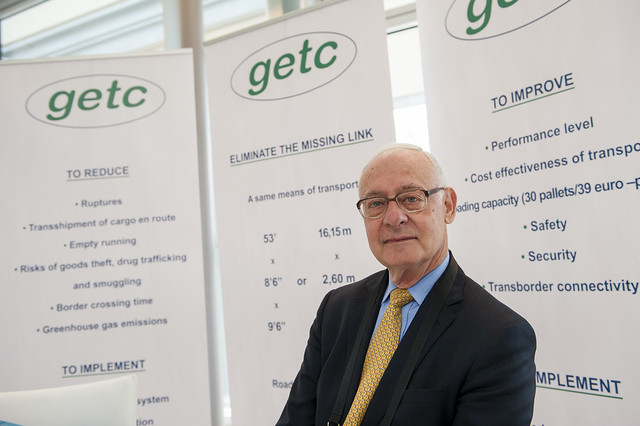 Yves Laufer at the GETC stand
