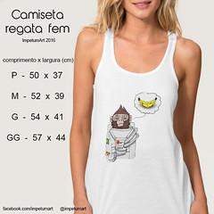 Regata Feminina (IMPETUM T) Tags: art moda infantil indie camiseta altura roupas tamanho ilustraes blusas babylook vestimentas comprimento largura impetum impetumart