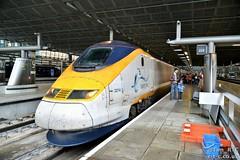 373214 at St. Pancras on a Paris Gare du Nord service (Tim R-T-C) Tags: railroad london station train eurostar railway mainline class373 londonstpancras 373214 9o48