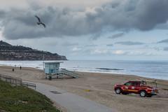 Torrance Beach  -57   3369 (Katbor) Tags: clouds lifeguardtruck lifeguardtower torrancebeach