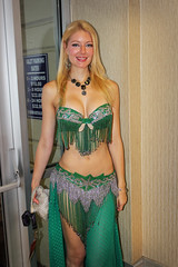 belly-dancer in green (greyloch) Tags: sexy green costume pretty bellydancer dancer dragoncon 2015 hotlooking