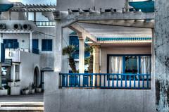 In Monastir (peterschneider608) Tags: africa travel blue white detail building architecture photography nikon d70 tunisia haus struktur structure architektur afrika column blau hdr reise monastir sule weis digikam photomatix darktable