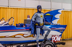 Batman and the Batboat (misterperturbed) Tags: newjersey batman atlanticcity dccomics adamwest batman1966 atlanticcityboardwalkcon