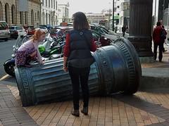 The Fall of Civilisation (mikecogh) Tags: sculpture broken child pillar climbing fallen installation wellington publicart
