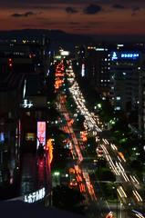 Hustle and bustle (kinsontung) Tags: road car japan night traffic busy fukuoka