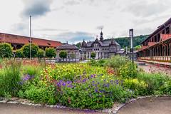 Bad Salzungen_SAM_1926 (milanpaul) Tags: juni germany deutschland thringen sonnenuntergang alt sommer stadt architektur sole fachwerk historisch 2016 gradierwerk badsalzungen samsungnx300m