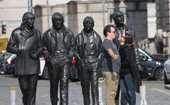 Beatles Selfies (Bluden1) Tags: people liverpool pier photo couple head beatles mersey selfie merseyside merseybeat
