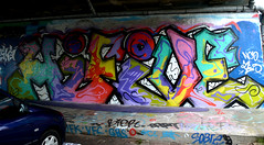 graffiti amsterdam (wojofoto) Tags: holland amsterdam graffiti nederland netherland hifive hi5 flevopark amsterdamsebrug wolfgangjosten wojofoto