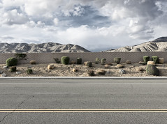 Linear Landscapes: Low Desert (autobahn66.com) Tags: california cactus sky mountains clouds landscape desert fineart minimal deserthotsprings newtopographics