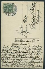 Archiv E670 Photokarte (back), Zwickau, Poststempel vom 6. Januar 1913 (Hans-Michael Tappen) Tags: stamps text zwickau 1910s 1913 handschrift briefmarke poststempel 1910er archivhansmichaeltappen