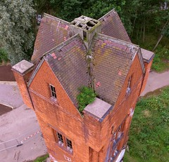 Wolsey Factory (Sam Tait) Tags: wolsey factory site derelict abandoned gone mothballed leicester industrial industry river soar uav drone quadcopter dji phantom 3 standard water tower