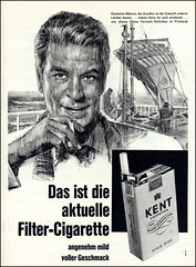 1962 german ad Kent Cigarettes (Harald Haefker) Tags: classic promotion vintage magazine germany ads print advertising deutschland kent pub publicidad reclame cigarette ad retro smoking anuncio advertisement nostalgia german advert 1960s cigarettes werbung publicit magazin 1962 reklame nostalgie deutsch affiche publicitario zigaretten deutsche historie cigarro zigarette pubblicit rauchen cigarros sigaretta historisch werbe rclame klassische pubblicizzazione