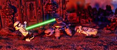 No one messes with the Space Turtle (BrickSev) Tags: fiction classic toy toys photography star robot starwars fight order force desert lego turtle space stormtroopers first indoor battle science suit scifi stormtrooper sciencefiction wars episode diorama vii legostarwars tabletop minifigure the exo awakens firstorder minifigures toyphotography exosuit episodevii classicspace legophotography theforceawakens forceawakens