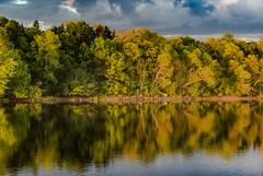 Mississippi River Sunset (Tony Webster) Tags: trees sunset sky reflection minnesota clouds river us spring unitedstates mississippiriver monticello goldenhour biglake ellisonpark