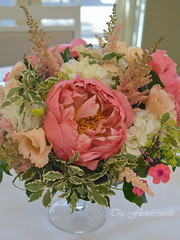 Table centre with peonies (The Flowersmiths Wedding Flowers) Tags: theflowersmiths tablearrangements kentweddingphotography kentweddingflorist weddingfloristinkent weddingflowers centerpieces wild meadowflowers meadowstyleflowers summerwedding hevercastlewedding