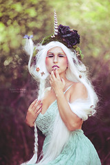Unicorn (Sarah F. Bowman) Tags: fantasy ethereal unicorn creature woman wig butterfly dress fashion sarah bowman photography emotion