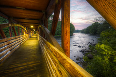 Bridge and Beyond II (Decaseconds) Tags: hdr canton newyork northcountry grasse river suny bridge adirondack sunset
