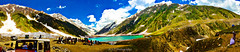 Panoramic View of Lake Saiful Malook (M.S.J Photography) Tags: panorama lake nature water clouds view moutains hillstation fairytales greenry iphoneshot msjphotography