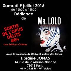 Mr LOLO - DEDICACE (Brin d'Amour) Tags: paris ddicace 75013 brindamour chrixcel mrlolo librairiejonas opusdlits