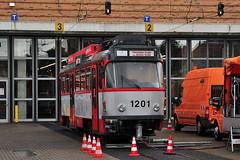 Tatra T4DC #1201 HAVAG Halle (Saale) (3x105Na) Tags: germany deutschland tram 1201 halle strassenbahn tatra zajezdnia saale tramwaj betriebshof btf sachsenanhalt niemcy havag t4dc