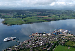 The port of Cromarty Firth (ccgd) Tags: cromarty firth intheair scotland highlands flying