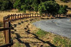Fence at Santa Teresa County Park - Happy Fence Friday (randyherring) Tags: california park ca morning trees summer mountains nature grass us flora unitedstates outdoor hiking sanjose vegetation recreation santacruzmountains dryseason santateresacountypark santaclaracountyparks