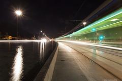 One Night In Grenoble #3 (LilFr38) Tags: light france water night grenoble reflections eau streak lumire nuit reflets canonef1740mmf4lusm trait isre lilfr38 canoneos5dmarkii blacksandsbonobo kiarabonobo