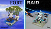 Fort Raid (Oky - Space Ranger) Tags: lego fort space prison pirate imperial raid outpost bluecoat