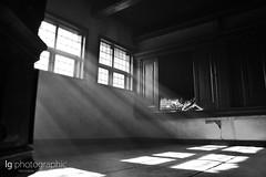 Dark sun rays (lg-photographic) Tags: wood old bw sun white black museum germany dark lost deutschland nikon place alt places rays holz sonne schwarz sonnenstrahlen dunkel cloppenburg weis museumsdorf d3100