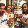 Manny PacMan PACQUIAO received his What I Love About Dad fill-in-the-blank book from his little girl! Her reason #46, I am so (happy) that (you are a great husband to my mommy!) You can get your own fill-in-the-blank books at your local #Francescas s