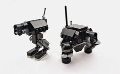 The Gun Show, Old vs. New (Deltassius) Tags: robot war lego space military frame scifi mecha mech mf0