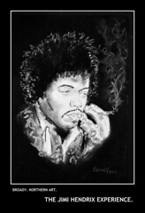 EXPERIENCE (Broady - Salford art and photography) Tags: art rock artwork pop charcoal experience singer hendrix jimi jimihendrix guitarist broady broadhurst