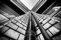 berlin rain gutter (Zesk MF) Tags: white black up rain architecture high nikon sigma haus minimal architektur 8mm regenrinne zesk