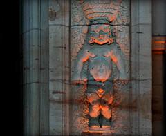 Bathed in Light (hogsvilleBrit) Tags: light sculpture orange portal column darmstadt jugendstilbad jugendstiltage