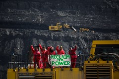 Ffos-f-fran, Wales, United Kingdom (Break Free from Fossil Fuels) Tags: wales mine open action unitedkingdom protest peaceful mining cast change environment merthyrtydfil activism climate direct ffosyfran millerargent reclaimthepower