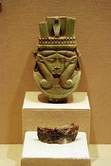 Hathor head (konde) Tags: ancient goddess ivory pyxis mesopotamia hathor nimrud sistrum lateperiod