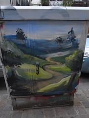 Paysage au Crons (Anne Robertz) Tags: brussels streetart pencil graffiti bruxelles crayon brussel crons