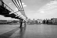 Millennium Bridge (John Fenner) Tags: bridge bw london st thames river prime mono nikon cathedral pauls millennium d750 24mm nikkor f28 afd