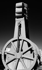 One huge steam crank... (R.A. Killmer) Tags: city blackandwhite industry monument monochrome iron pittsburgh tour artistic antique steel style landmark steam crank