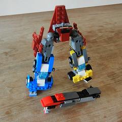 DSCN6392 (alfa145q_lego) Tags: robot lego mecha rebuild alternate 31034 31033 31032 legocreator vehicletransporter redcreatures futureflyers