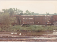 Tomah #1 (MILW157) Tags: road railroad shop train track sub side milwaukee mow boxcar rib wi ard tomah