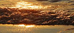 Golden waves (RPahre) Tags: sunset panorama gold waves michigan pano upperpeninsula lakesuperior picturedrocks picturedrocksnationallakeshore