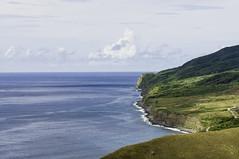 Shoreline (roger reyes) Tags: ocean cliff outdoor horizon philippines shoreline pasture batanes