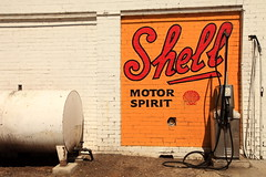 Shell Motor Spirit (Darren Schiller) Tags: history sign wall advertising portland bowser garage shell oil newsouthwales petrol