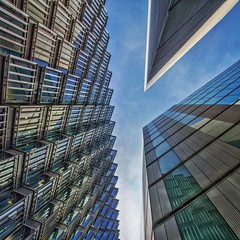Tuxedo Junction (Paul Brouns) Tags: greatbritain streets london architecture modern view angle south centre perspective center junction southbank sharp lookingup lookup pointofview architektur intersection offices architectuur  paulbrouns paulbrounscom