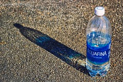 (jbeneventophotos) Tags: shadow water canon outdoors shadows h2o aquafina brand waterbottle rebelsl1