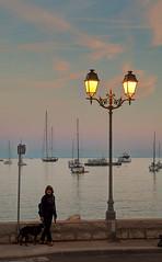 Preto & Silvana (tullio dainese) Tags: sunset people france person persona tramonto outdoor preto francia villefranchesurmer allaperto silvanavialli